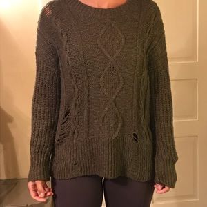 Green distressed Lucky brand sweater M